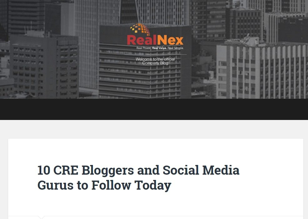 10 CRE Bloggers and Social Media Gurus to Follow Today – RealNex Company Blog