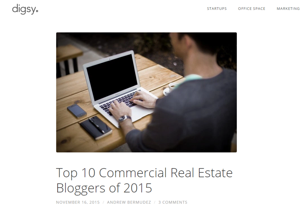 Top 10 Commercial Real Estate Bloggers of 2015