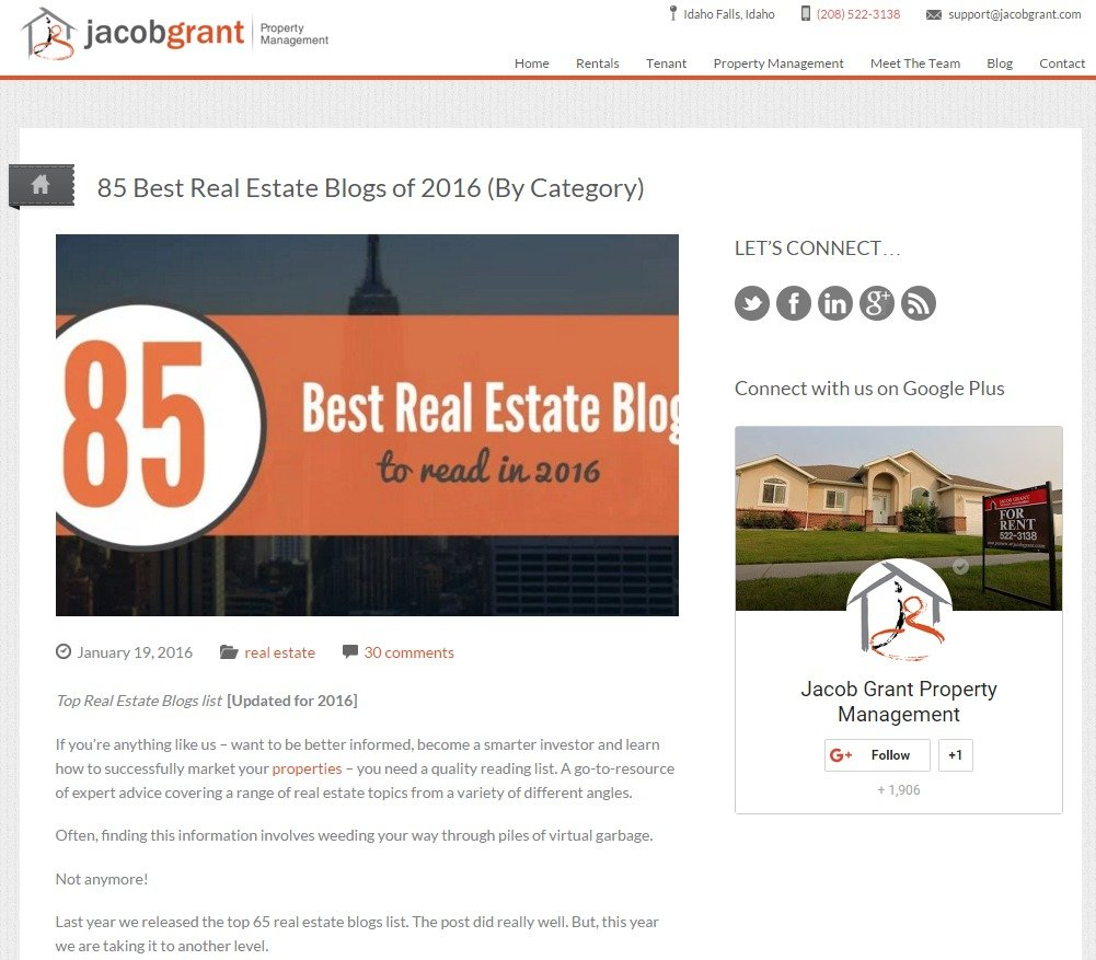 85 Best Real Estate Blogs to Read in 2016