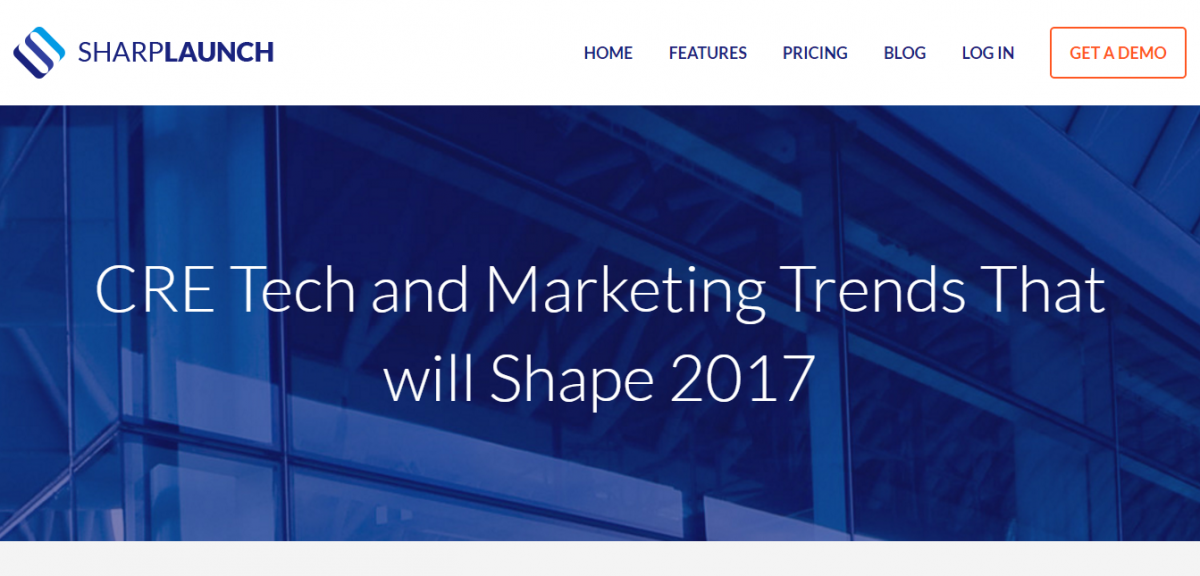 CRE Tech and Marketing Trends That will Shape 2017 SharpLaunch