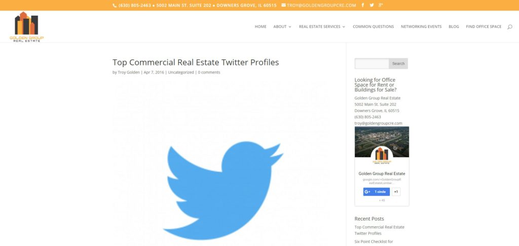 Commercial Real Estate Twitter Golden Group Real Estate