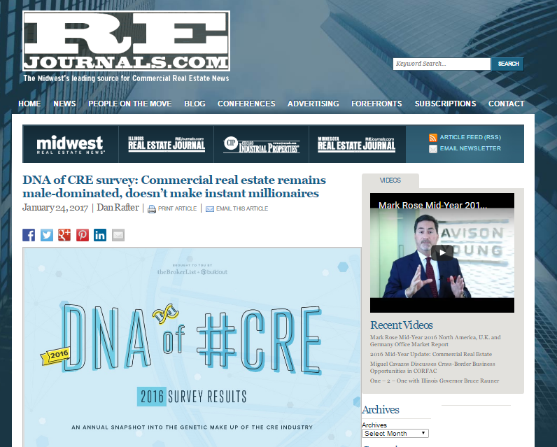 DNA of CRE survey Commercial real estate remains male dominated doesn't make instant millionaires   REJournals.com