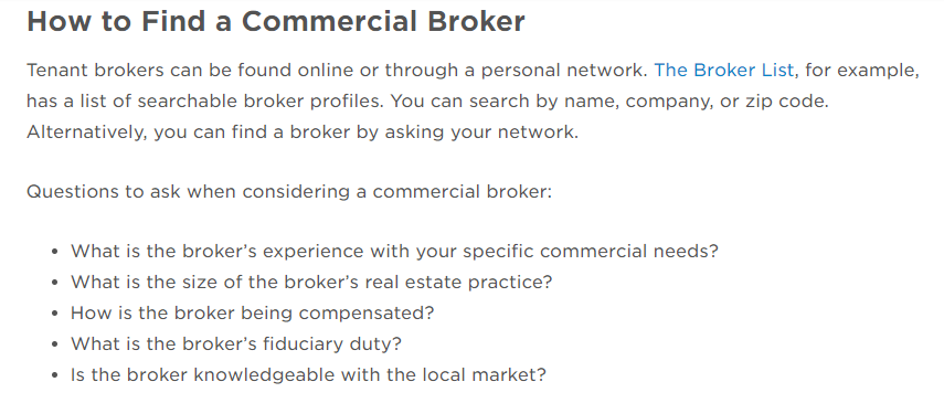 How to find a commercial real estate broker