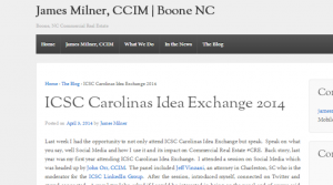 Thanks to James Milner, CCIM for mentioning us at this event and in his blog!
