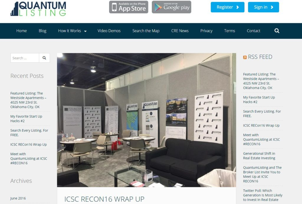 ICSC RECon16 Wrap Up – Quantumlisting