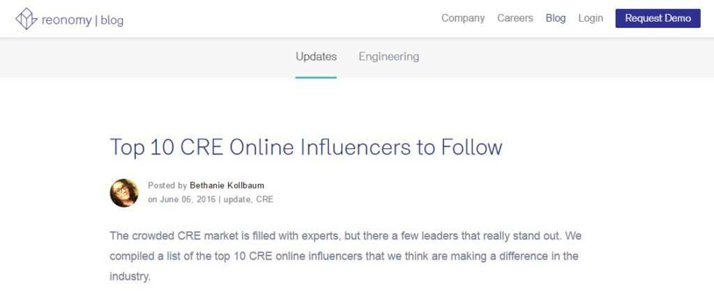 Top 10 CRE Online Influencers