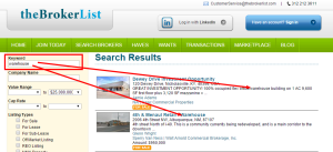 Keyword Search on HAVE Listings
