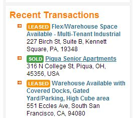 Recent TRANSACTIONS on RIght Side Pane