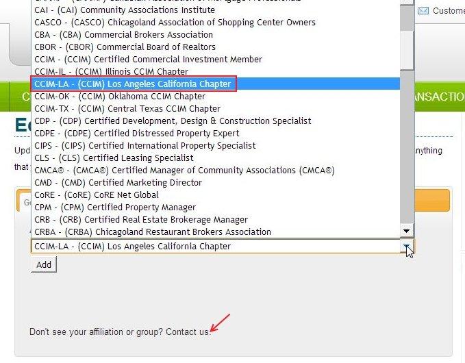 New Affiliation Added - CCIM LA