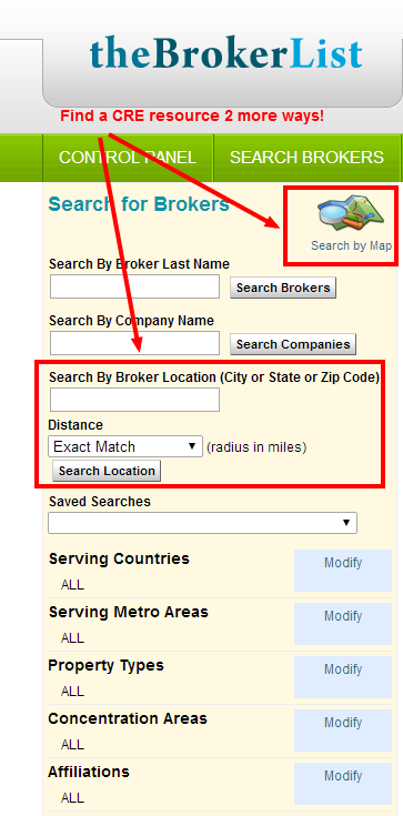 Search Brokers 2 More Ways
