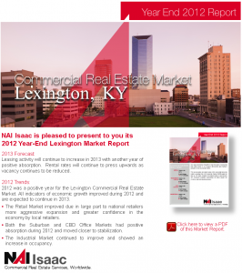 Lexington, KY CRE Market Report YE-2012