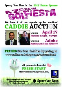 Sperry Van Ness has Two Caddies up for Bid in the AZCREW Golfiesta Caddie Auction