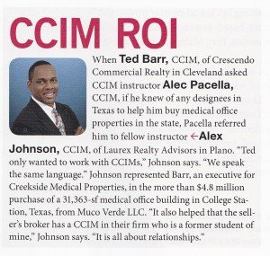 Alex Johnson, CCIM Featured in CCIM Magazine - May June 2013 Issue