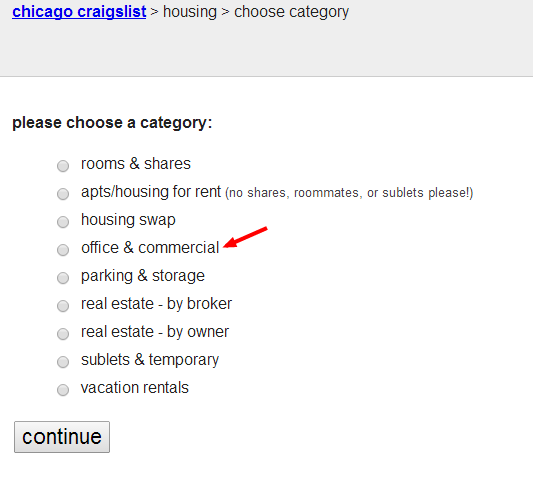 chicago craigslist   choose category
