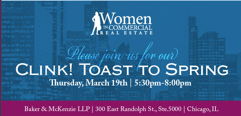 Clink Toast to Spring Women in CRE Event