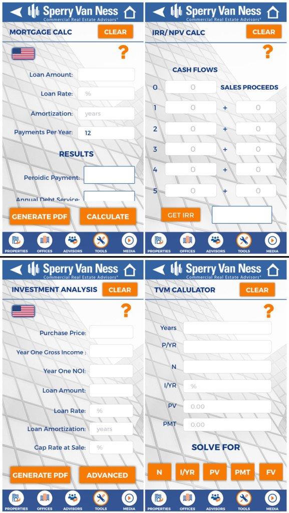 Commercial Real Estate App - Calculators