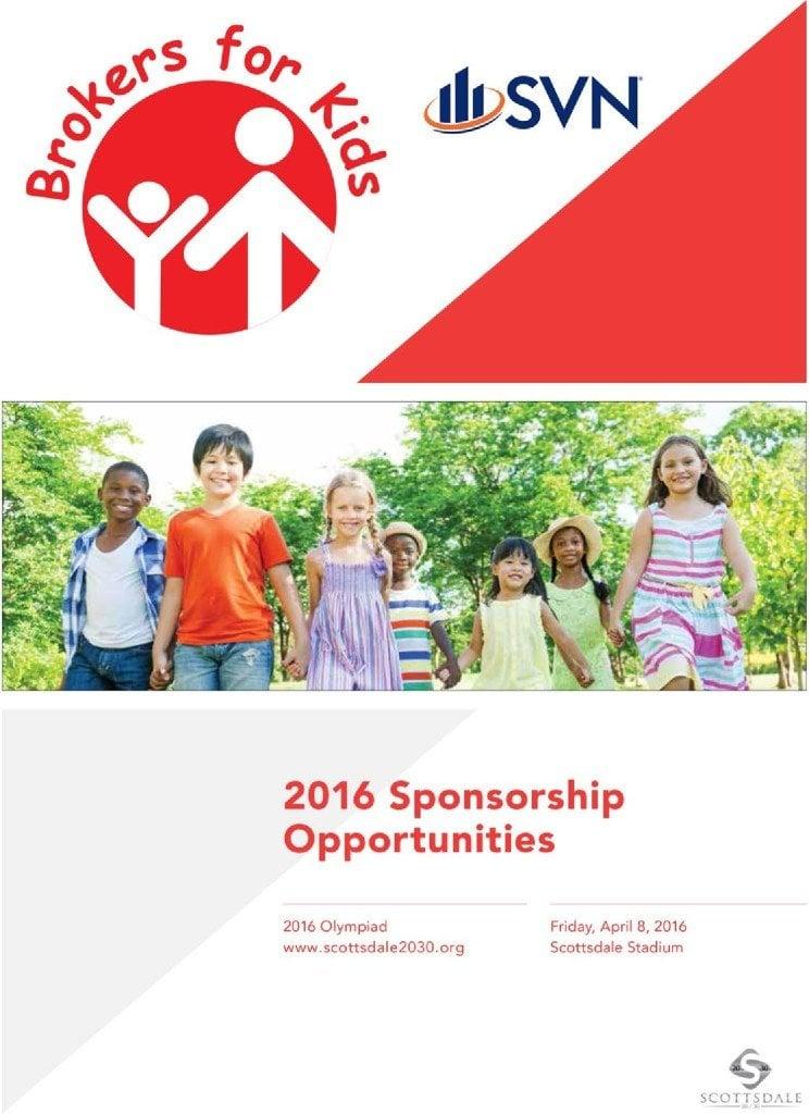 2016 brokers for kids sponsorships