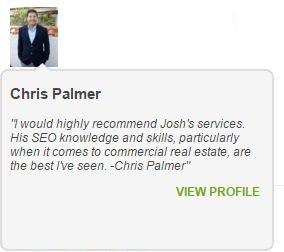 Joshua Lyons Marketing Satisfied Customer Chris Palmer
