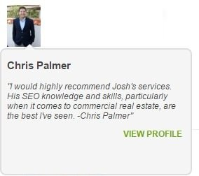Joshua Lyons Marketing Satisfied Customer Chris Palmer