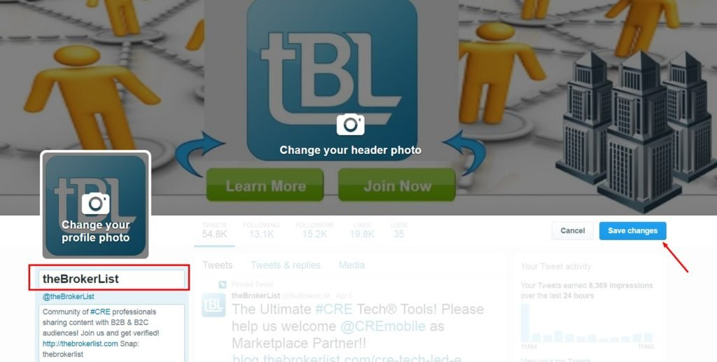 how to change your display name on twitter