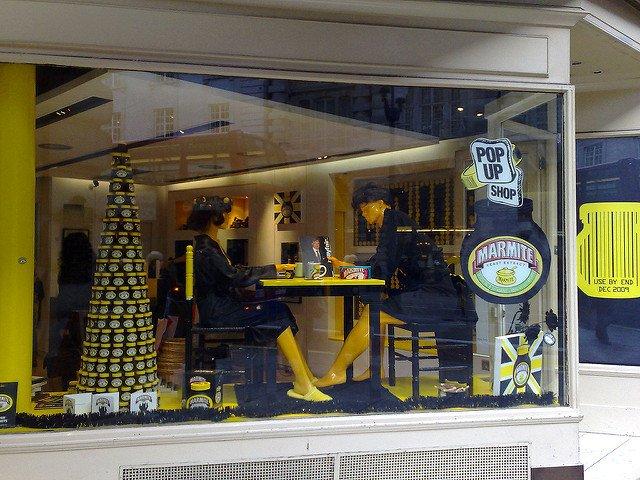 Marmite Pop-Up shop (Source: Gilda, Flickr)