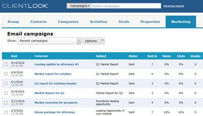 clientlook-crm-email-campaign-list