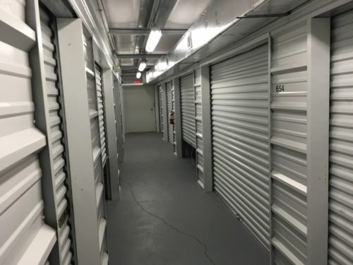 Self storage facility indoor