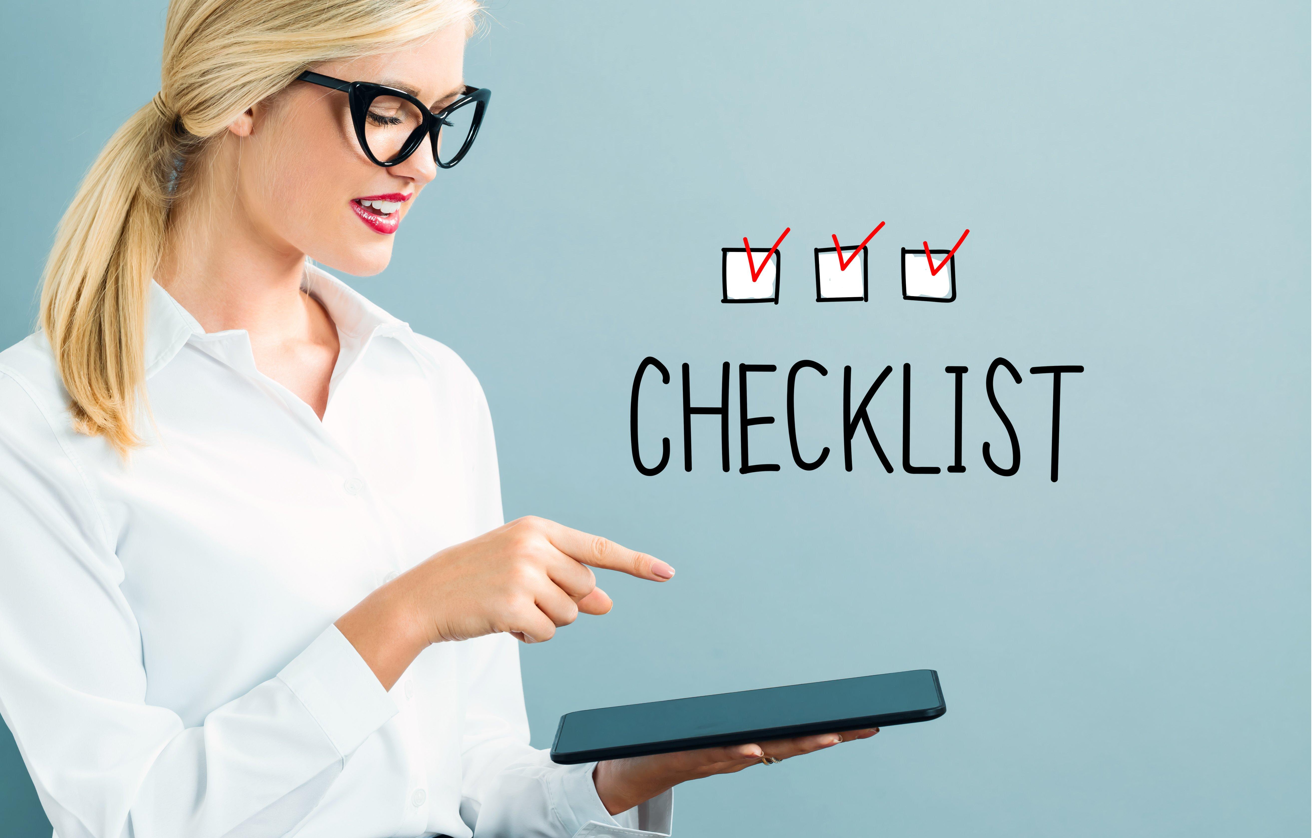 crm 2017 check list