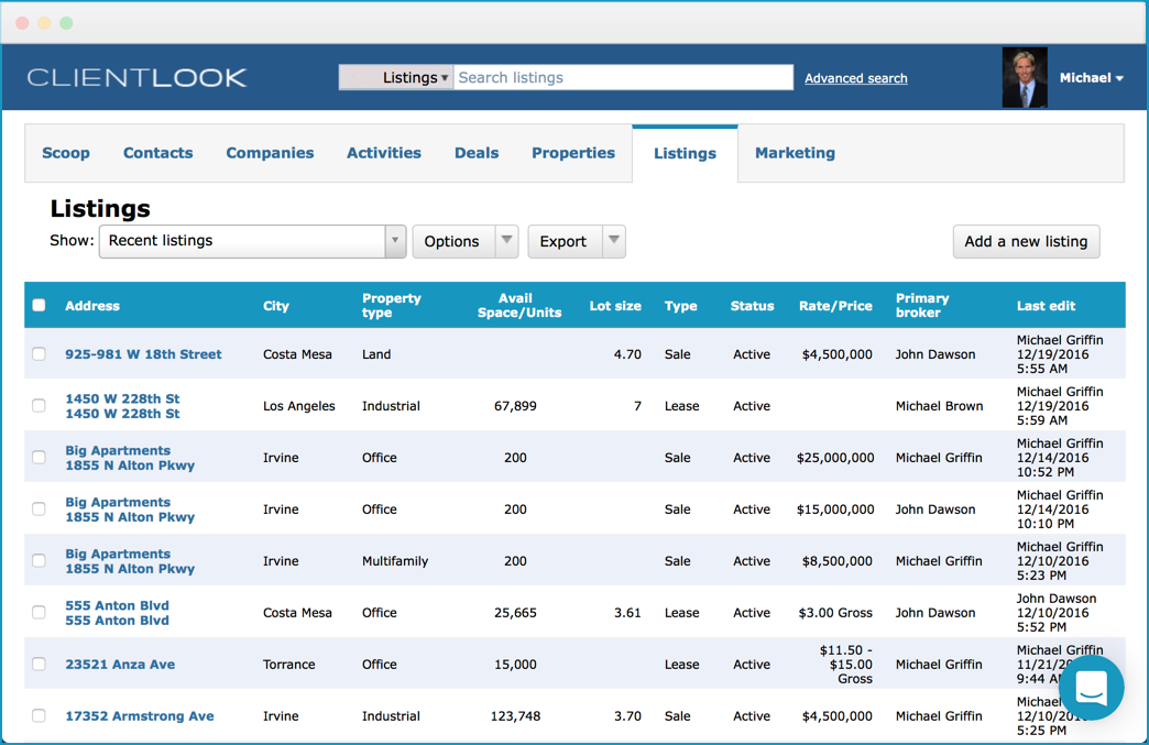 clientlook listings management module