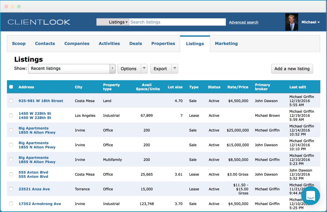 clientlook listings management module