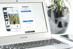 Social Media on Computer