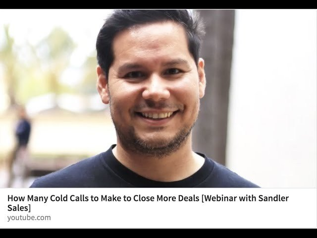 How Many Cold Calls to Make to Close More Deals [Webinar with Sandler Sales] - VIdeo