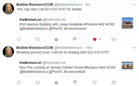 Bobbie Mastracci CCIM Tweet follow ups