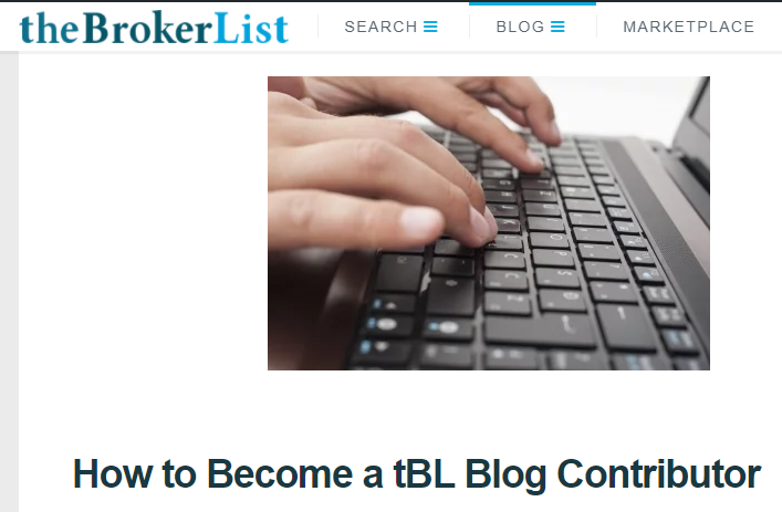 How To Blog With Us theBrokerList Blog