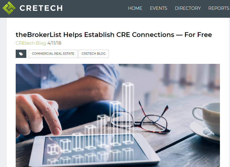 theBrokerList Helps Establish CRE Connections — For Free