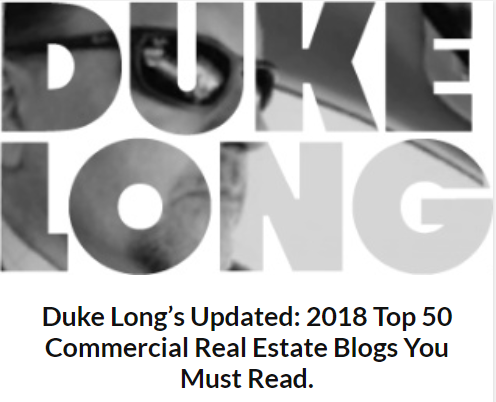 Duke Long's 2018 Top 50 Commercial Real Estate Blogs You Must Read.