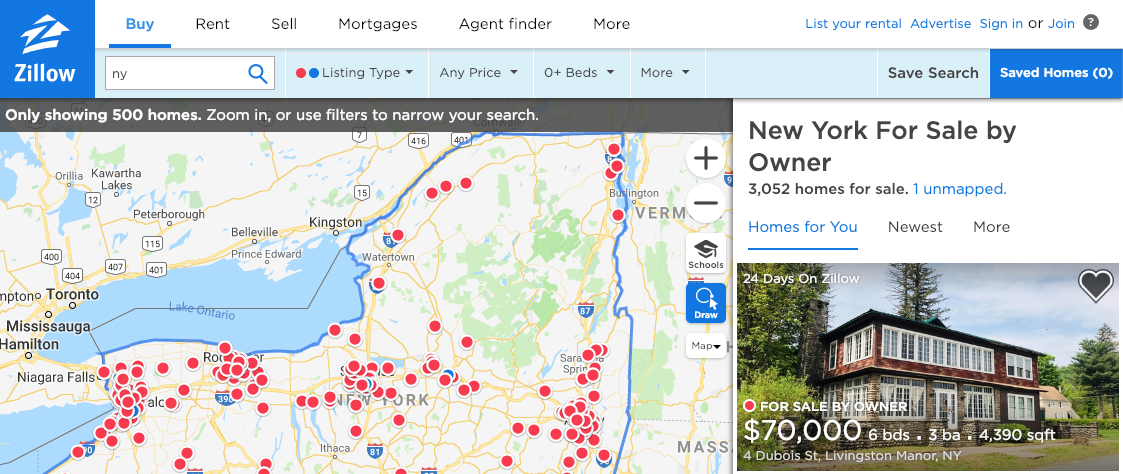 Zillow for sale by Owner Property Search