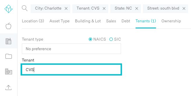 Reonomy Property Owner Search by Tenant CVS Charlotte North Carolina
