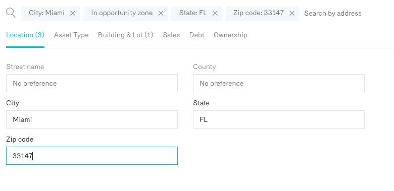 Miami Opportunity Zone Property Search