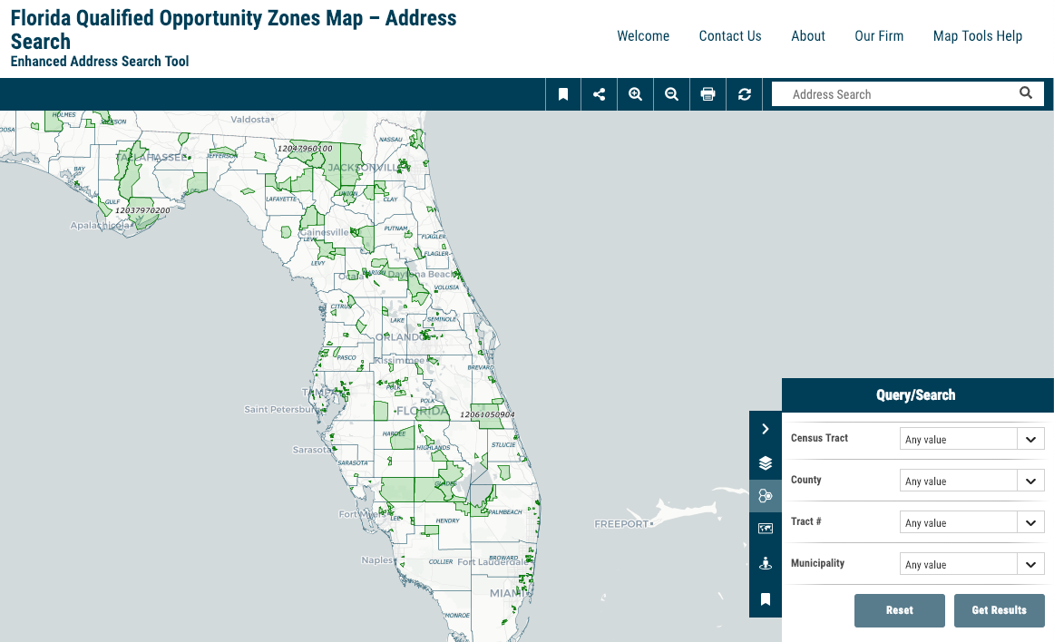 Stearns Weaver Miller Florida Qualified Opportunity Zones Map