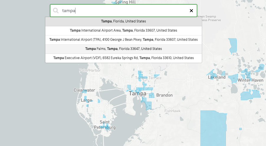 EquityMultiple Opportunity Zone Map Florida