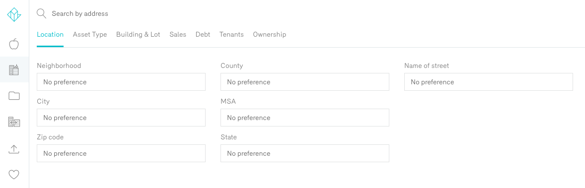 Reonomy Property Search by Location