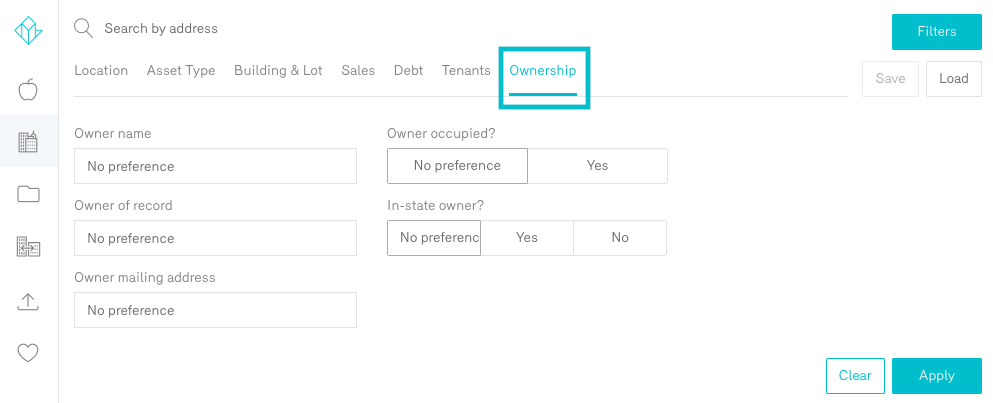 Reonomy Property Search Ownership Filters