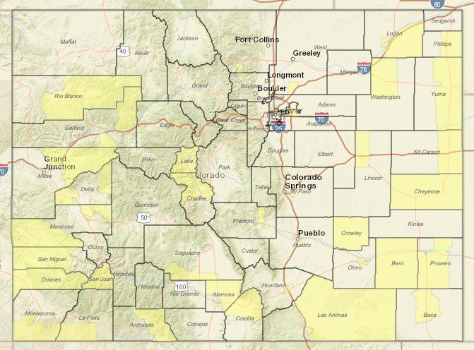 Colorado Opportunity Zone Map