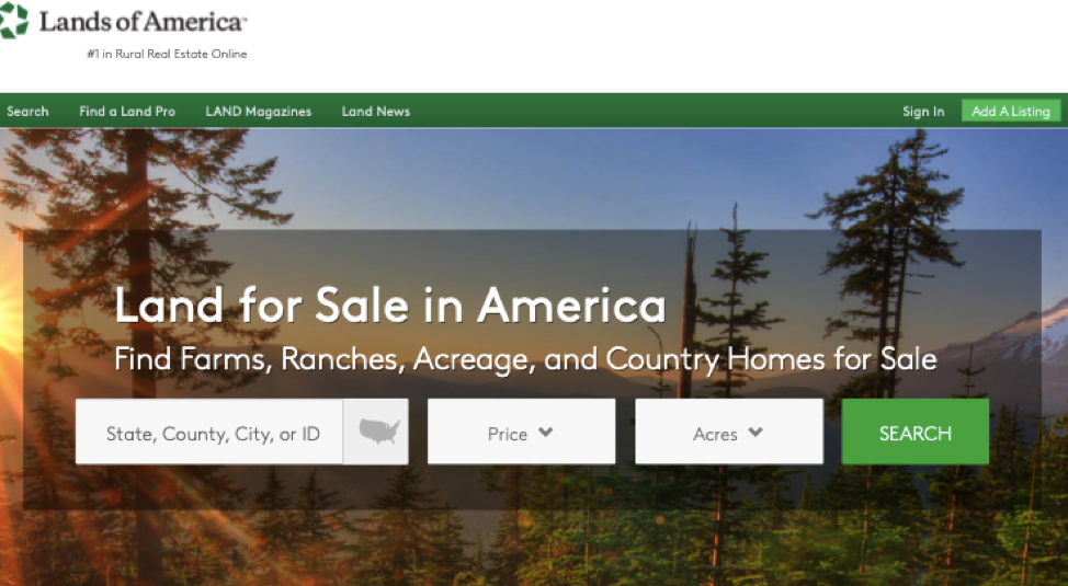 Lands of America Foreclosed Land for Sale