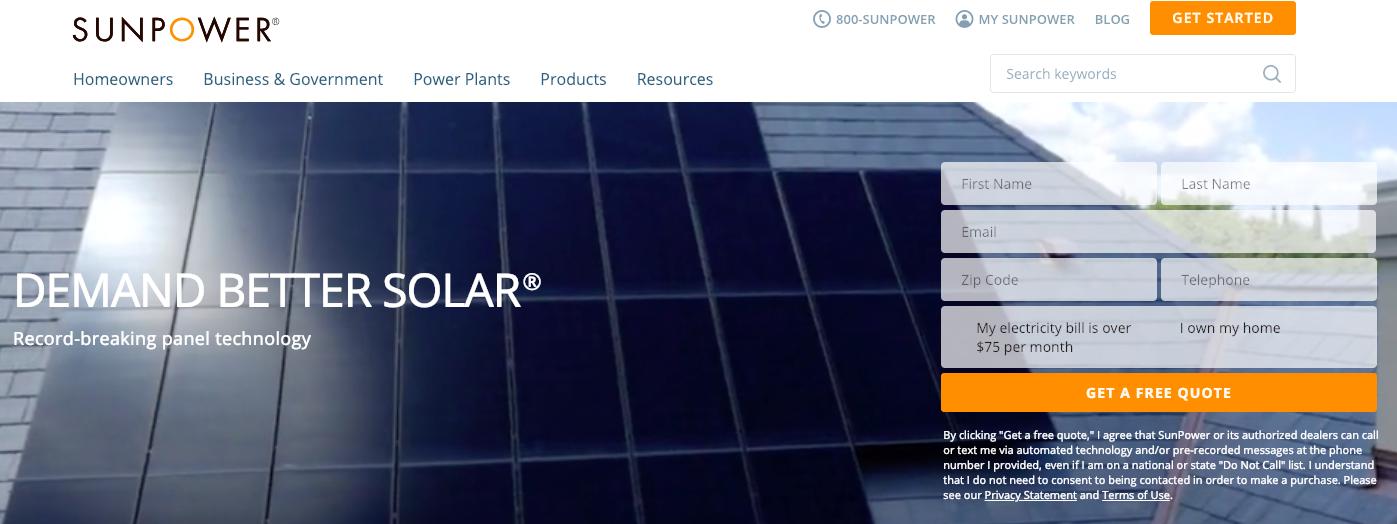 SunPower Company Website