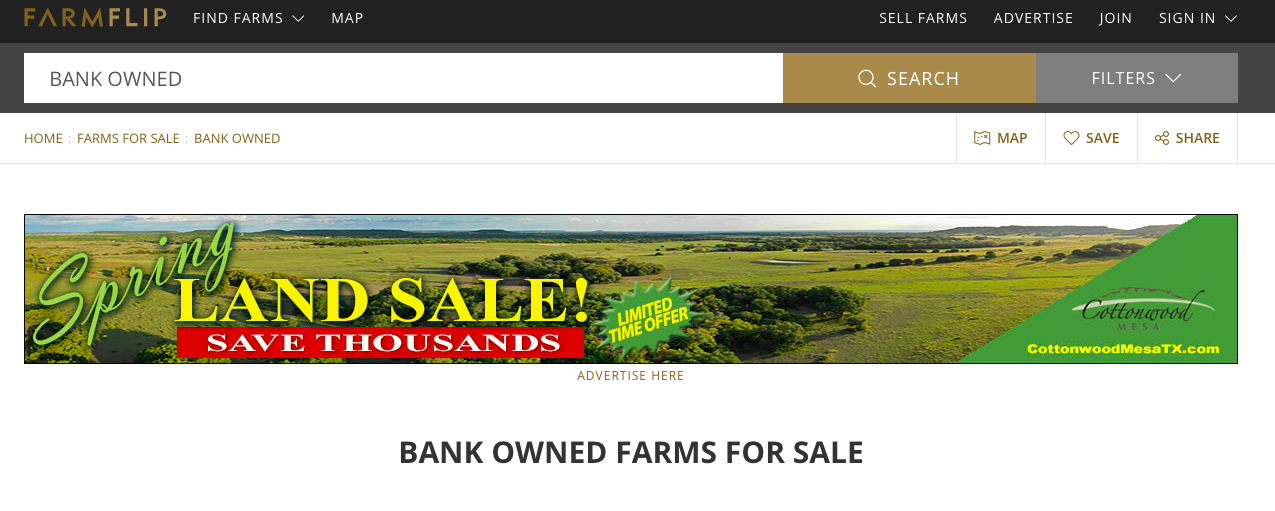 Bank Owned Land for Sale