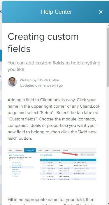 ClientLook CRM Self-Help Resources_6