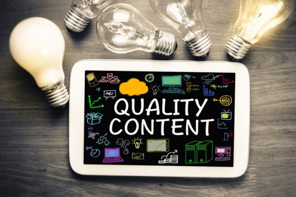 Use quality content on your website