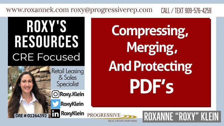 Roxanne Klein tips on PDF File Management